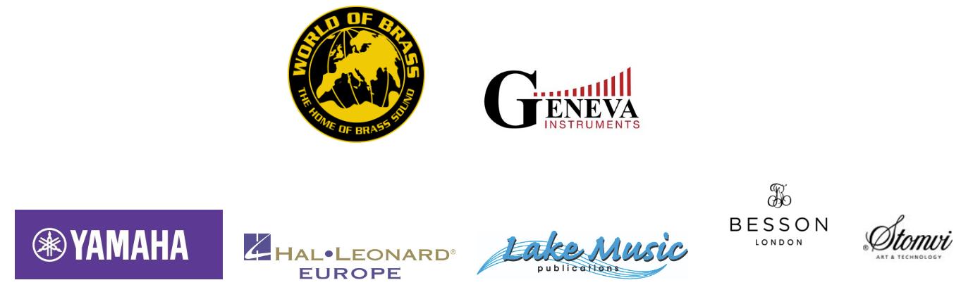 World of Brass, Geneva Group, Yamaha, Stomvi, Hal Leonard, Lake Music, Besson