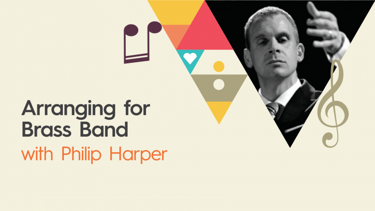 Arranging for Brass Band with photo of Philip Harper